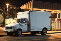 Box Van (Curtis Gregory Perry) Tags: longview washington gmc cube box van 1978 night long exposure vehicle white nikon d810