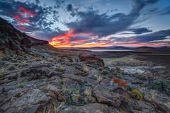 Remote Nevada Sunset (Jeffrey Sullivan) Tags: sunset weather volcanic rock formations nevada united states usa landscape nature travel photography canon eos 5dmarkiii photo copyright 2014 october