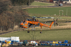 Goliath (Calum Linnen) Tags: erickson aircrane sikorsky s64f skycrane scottish southern energy sse heavy lift goliath aberdeenshire windfarm n158ac