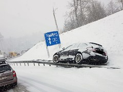 Snow Trouble at German Highway (garethtrooper) Tags: germany autobahn highway snow jam