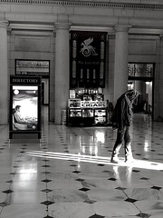Light (#KPbIM) Tags: 2017 winter december travel trip dc maryland vacation washington virginia arch building amtrak train architecture union station man white kiosk directory tiles shadow window bw president black cigars light