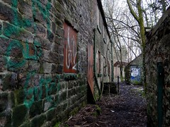 Mess Is My Main Feature. Jan 2018 (SimonHX100v) Tags: shiningcliffwoods ambergate derbyshire derby derelict urban decay ruins ruin abandoned untidy depressed dereliction neglected deserted desolate broken damaged ruined shattered moss damp graffiti perspective pointofview lowpov pov depthoffield dof leadinglines unitedkingdom uk england english greatbritain gb britain british eastmidlands january january2018 winter winter2018 outdoor outdoors outside simonhx100v sonydschx100v sonyhx100v hx100v sonycybershotdschx100v