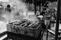 Barbecue (borishots) Tags: barbecue meat food foodporn bokeh bokehlicious bokehwhore smoke bw blackandwhite monochromatic monochrome sonya7 sonyalpha sonyalpha7 sonyalphailce7 sonyfe28mmf2 sony 28mm wideopen wideangle copenhagen denmark scandinavia people nyhavn travel travelphotography