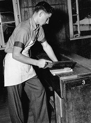 State High School, Domestic Science, Woodwork - Brisbane (Queensland State Archives) Tags: student boy teaching woodwork apron manualarts domesticscience education classroom secondary statehighschool brisbane qld queensland archives history queenslandstatearchives tools
