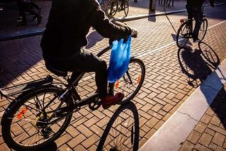 Busy Amsterdam Bike Shadows