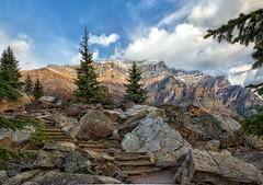 The Rockpile (Philip Kuntz) Tags: morainelake rockpile morainelakerockpile mttemple sunrise dawn daybreak banff alberta canada