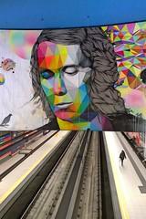 Paco de Lucia (maramillo) Tags: maramillo madrid paint head musician ubahn tracks bunt friendlychallenges otr