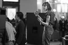 Legume (verlacosa) Tags: vscofilm portrait blackandwhite gm 85mm blackwhite sony detroit michigan livemusic hamtramckmusicfestival highiso monochrome event banksuey hamtramck concert legume 85mm14gm bw music a7rii performer