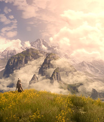 In Harmony with Nature (Stachmoon) Tags: with nature meditation witcher 3 iii landscape meditating reshade gaming video game screenshot digital art harmony peace