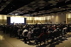 Público presente na palestra no Motores do Desenvolvimento