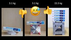 Modular origami test lab: summary of results (ISO_rigami) Tags: modular origami 3d a4 paper construction eckhardhennig