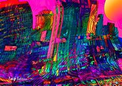 Momentum (brillianthues) Tags: city philadelphia skyline urban colorful collage photography photmanuplation photoshop abstract