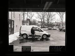 24 HR. Surveillance (Something Sighted) Tags: streetphotography scènederue newtown pennsylvania buckscounty blackandwhite noiretblanc window