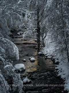 Andorra winter landscape: Ordino, Vall nord, Andorra