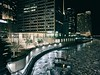 Jigsaw (ancientlives) Tags: chicago chicagoriver river riverwalk illinois usa travel walking apple evening lights night downtown michiganavenue magnificentmile tribunetower architecture buildings city cityscape frozen water cold friday january 2018 winter ngc