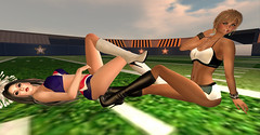 SuperBowl 52_005a (♥Bittsy♥) Tags: super bowl cheerleaders patriots eagles second life secondlife sl avi avatar