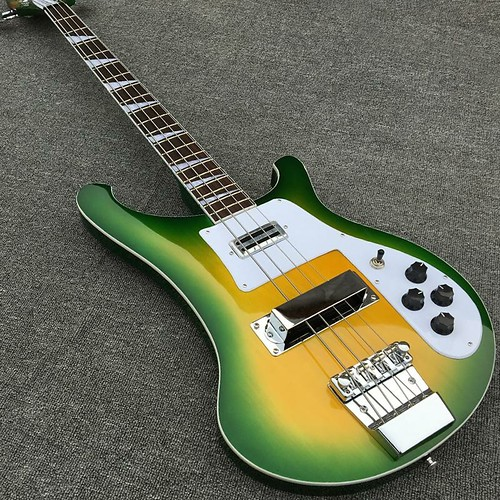 20 Fret 4 String Electric Bass Guitar in Green Burst Color