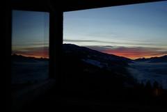 Beautiful moment (kersting18) Tags: window outlook sunset sun landscape ennstal austria night fog deep bathroom sony alpha 77 beautiful red sky moment catcher