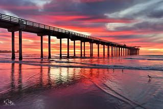 Amazing Scripps Pier Sunset