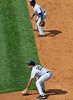 Two Gold Glovers (acase1968) Tags: mark teixeira robinson cano new york yankees yankee stadium 2012 mlb major league baseball defense right side infield first baseman second nikon d7000 nikkor 70200mm f28g teleconverter 17x