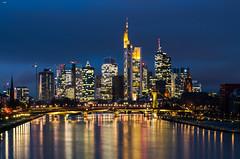 FFM Skyline (FMbrod) Tags: pentax k50 pentaxk50 frankfurt hessen skyline skyscraper night longexposure main rheinmaingebiet