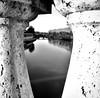 Fiume Tevere Roma (ioriogiovanni10) Tags: specchio riflessi monotone monocromatico blackandwhite biancoenero fiumetevere river leica lumix rome clouds sky tevere bridge ponte capitale roma città
