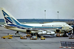 LV-OHV   Boeing 747SP-27 [21786] (Aerolineas Argentinas) Frankfurt Int'l~D 01/05/1981. From a slide. (raybarber2) Tags: 21786 airliner approachtodo argentinacivil cn21786 cancelled eddf flickr lvohv slide
