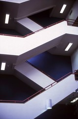 Stairs-RWB (JeffreyA101) Tags: stairs iu indiana university architecture interior
