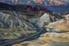 Sunrise at the Zabriskie Point Badlands (Adam Woodworth) Tags: badlands california deathvalley deathvalleynationalpark desert hills mountains nationalpark panamintrange sunrise zabriskiepoint