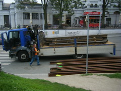 Brno tram track re-laying (johnzebedee) Tags: transport publictransport tramway tramtrack brno czechrepublic johnzebedee