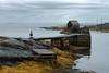 Blue Rocks - Nova Scotia (B.E.K. Photography) Tags: blue rocks novascotia dock pier shack fishing raven seaweed ocean water overcast sky clouds shore outdoor landscape nikond800 nikon2470f28