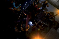 Paprihaven 1295 (MayorPaprika) Tags: canoneos50d 112 custom diorama toy story paprihaven action figure set 80s 90s huntress dcdirect drmidnite universe alley back dark fight fire escape generic knockoff bootleg