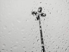 Rainy Days (Listeral Mac) Tags: rain drop water pole post light weather longisland ny newyork gray grey