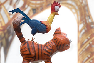 Weird bird in carnival parade in Blankenberge