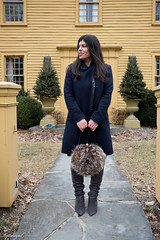 burgundy sweater dress, navy coat, over the knee boots-18.jpg (LyddieGal) Tags: lumo swap fashion fur grey navy outerwear outfit overthekneeboots purple style sweaterdress target thrifted wardrobe weekendstyle winter