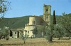 1988 Italy // Wandern in der Toskana // St. Antimo (Postkarte) (maerzbecher-Deutschland zu Fuss) Tags: 1988 maerzbecher italien italia toskana toscana hiking trekking wandern italy tuscany stantimo postkarte
