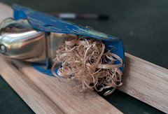 Meranti shavings (OzzRod) Tags: sony a7rii smcpentaxk30mmf28 52project2018 wood timber shavings meranti plane closeup
