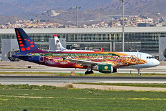 OO-SNF Airbus A.320-214 Brussels Airlines Tomorrowland CS AGP 23-02-18 (PlanecrazyUK) Tags: lemg malaga–costadelsolairport malaga costadelsol oosnf airbusa320214 brusselsairlines tomorrowlandcs agp 230218