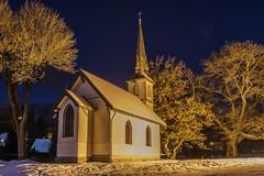 Holzkirche Elend / Small wooden church (jörg opfermann) Tags: sony ilce 7m2 2470mm f28 tamron kirche elend sachsenanhalt deutschland harz germany nachtaufnahme schnee