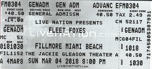 Fleet Foxes fan photo