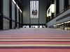Tate Modern's Turbine Hall (jane_sanders) Tags: london tatemodern turbinehall superflex onetwothreeswing stripy carpet stripes ball mirrorball