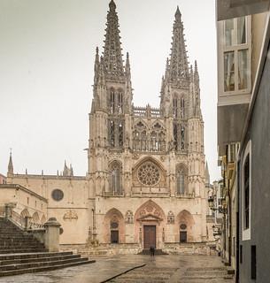 Burgos Cathedral, Castille and Léon, Spain. Façade.