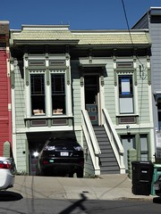 San Francisco, CA, Noe Valley, Victorian Cottage (Mary Warren 13.5+ Million Views) Tags: sanfranciscoca noevalley architecture building house residence victorian green stairs baywindow