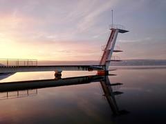 Stupebrettet på Ingierstrand bad (jonarnefoss2013) Tags: solnedgang sunset norway sony akershus ingerstand funkis