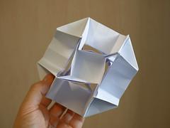 Flexicuboctawhatchamacallit (ISO_rigami) Tags: sid modular origami 3d a4 cube polyhedron eckhardhennig
