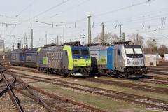 BLS 485 007 + Railpool 187 006 Basel Bad (daveymills31294) Tags: bls 485 007 railpool 187 006 basel bad baureihe traxx