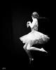 dancer jumping- pinhole edit. (gks18) Tags: pinhole blackandwhite bw canon lightroom nik dancer people dance jump noiretblanc