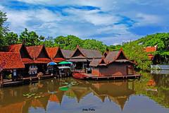 mirror image…. (Jinky Dabon) Tags: canoneos1200d floatingmarket markets canal watermarket