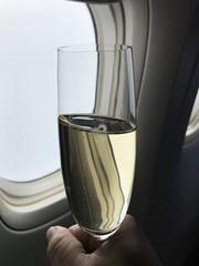 Holding the champagne (Khunpaul3) Tags: thai airways b777200er hstjt tg621 aircraft aeroplane airplane aviation boeing royal silk class avgeek champange