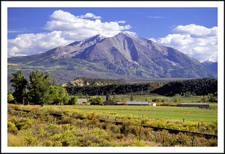 Mount Sopris and the Roaring Fork Valley - 1990
